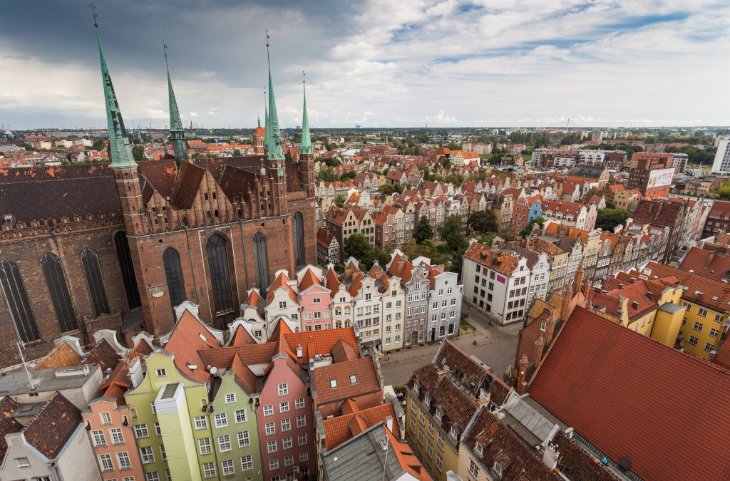 Гданьск старый город в Польше