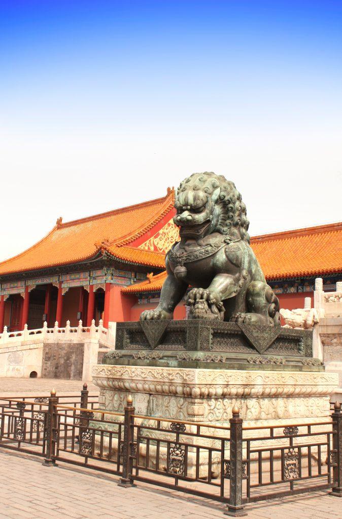Статуя в запретном городе Китай