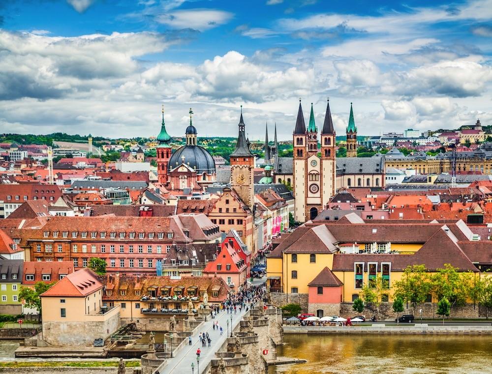 старинный немецкий город в Баварии