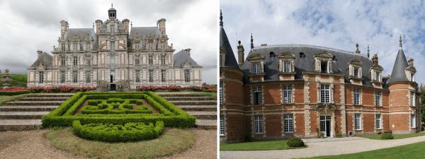 Замок Бомениль в Верхней Нормандии и Шато де Миромениль